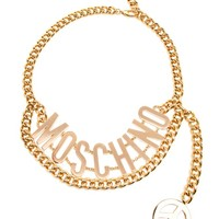 MOSCHINO | Cuban Link Chain Logo Belt | Browns fashion & designer clothes & clothing