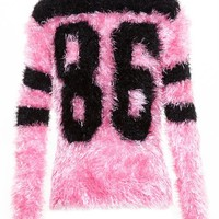 JEREMY SCOTT | Fluffy American Football Top | Browns fashion & designer clothes & clothing