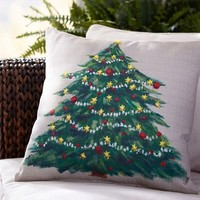 Painted Tree Indoor/Outdoor Pillow