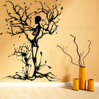 Halloween tree of life vinyl wall decal, home decor, housewares, wall art