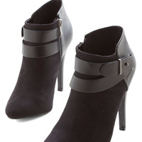 ModCloth Urban Follow Your Lead Bootie in Black