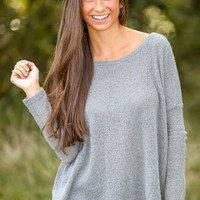 PIKO:Just About Anywhere Snuggle Sweater-Heather