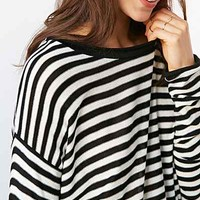 BDG Super Striped Tunic Top-