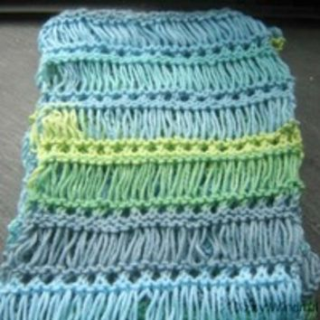 """""""Primavera"""" ombre Lace Scarf, OOAK from The Dizzy Windmill"""