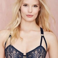 Lonely Lulu Lace Bra - Navy