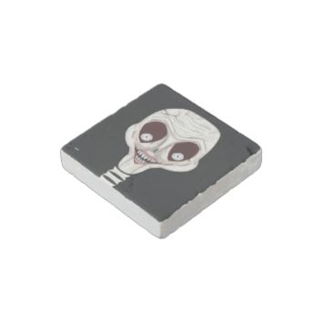 Ghoulish Skull Stone Magnet