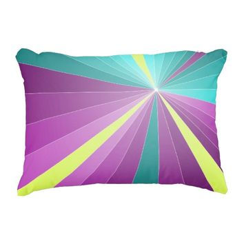 Abstract rays colorful geometric Accent pillow