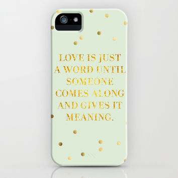 Love is just a four letter word iPhone & iPod Case by Sara Eshak