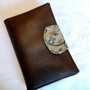 Brown Vinyl Faux Leather Rustic Owl and Bird eReader Cover Kindle , Nook Cover, Kobo Cover, Kindle Fire Cover, Kindle Touch Cover