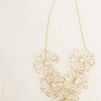 wondrous fair floral necklace at ShopRuche.com
