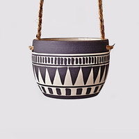 Mini Aztec Planter - Black | Hello Polly