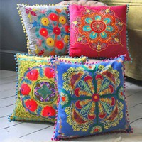Embroidered Gypsy Caravan Cushions