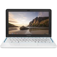 "HP - 11.6"" Chromebook Wi-Fi + 4G LTE - Exynos 5 - 2GB Memory - 16GB Flash (eMMC) Memory - Piano White/Blue"