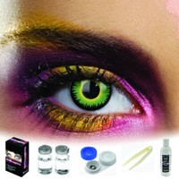 EDIT Green Werewolf Coloured Contacts (Kit)