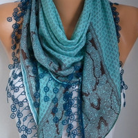 Mint Scarf Fall Fashion Cotton Scarf Oversize Scarf Necklace Cowl Scarf Multicolor Gift Ideas for Her Christmas Women Fashion Accessories