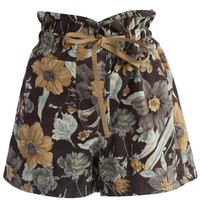 Retro Garden Culotte Shorts Multi