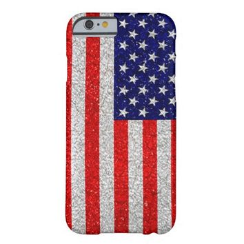 Bright Grunge American Flag Patriotic iPhone 6 Case