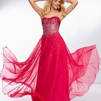 Mori Lee 2014 Strapless Prom Dress 95007
