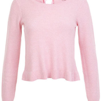 Pink Bow Back Jumper - Knitwear - Clothing