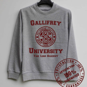 Gallifrey University Shirt Dr Who Sweatshirt Sweater Hoodie Shirt – Size XS S M L XL