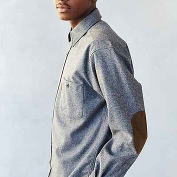 Pendleton flannel elbow patch button down from urban for Mens flannel shirt with elbow patches