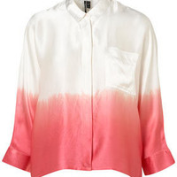 Premium Ombre Silk Shirt - Tops  - Clothing