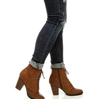 Tan Casual Booties