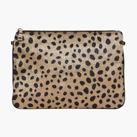 Leopard Pony Hair Clutch