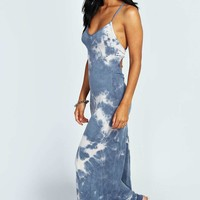 Candice Tye Dye Strappy Back Maxi Dress
