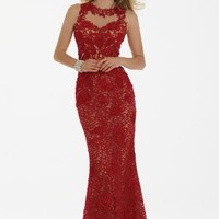 Mesh Lace Dress with Illusion Back