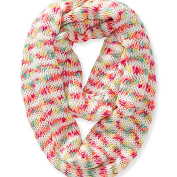 Aeropostale Multicolored Infinity Scarf - Dayglow Coral Neon, One