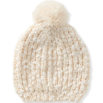 Aeropostale Knit Beanie - Cream, One