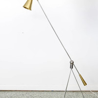 Rare Gilbert Watrous MoMA Design Competition Heifetz Floor Lamp