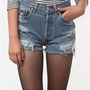 SALE 50% OFF LEVI&#x27;S Handmade High-wasited Denim shorts Urban Style