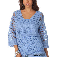 Crochet Fringe Tunic by Denim 24/7®