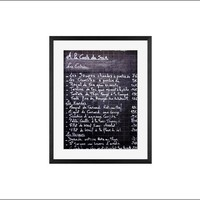 Paris Bistro Menu Framed Print by Rebecca Plotnick