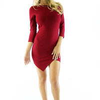 Raquel Bodycon Dress - Wine @ LushFox.com :: Current Fashion Trends & Styles