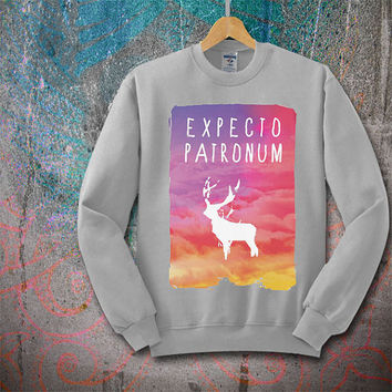 Expecto Patronum Harry Potter Galaxy sweatshirt for women and men, sweatshirt unisex size S M L XL XXL XXXL
