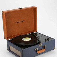 Crosley X UO AV Room Portable USB Vinyl Record Player- Blue Multi One