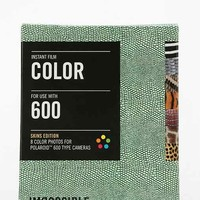 Impossible Skins Edition Polaroid 600 Instant Film- Brown Multi One