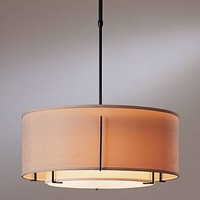 Hubbardton Forge 13-9605 3 Light Exos Medium Double Shade Large Pendant Light Fixture - Lighting Universe