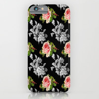 Roses On Black iPhone & iPod Case by ALLY COXON | Society6