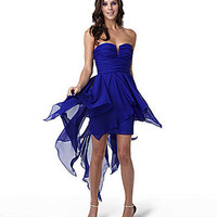 Hailey by Adrianna Papell Strapless Dress blue | Dillards.com