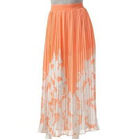 Candie's Butterfly Leaf Maxi Skirt