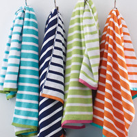Garnet Hill Regatta Stripe Towels