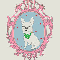Lovely French Bulldog art print