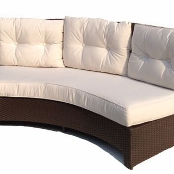 SYNTHETIC WICKER CURVED SECTIONAL