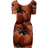 Pumpkins Bodycon Dress created by Blooming Vine Design | Print All Over Me