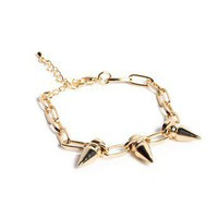 Triple Spike Chain Bracelet