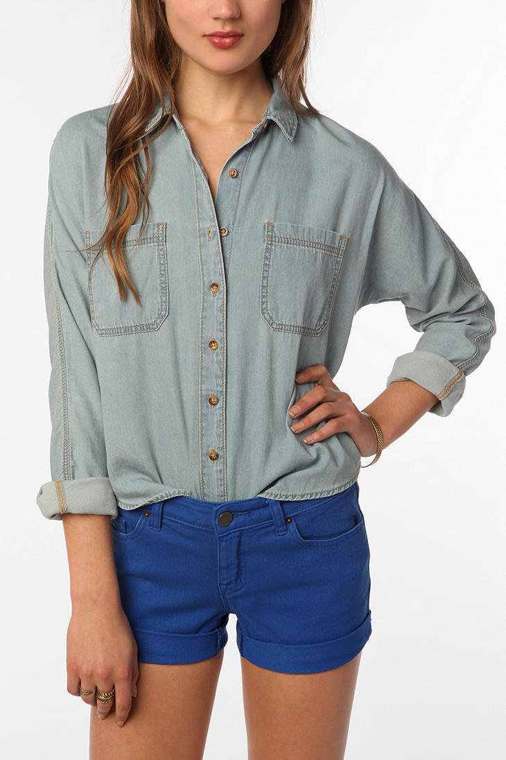 BDG Breezy Chambray Button-Down Shirt